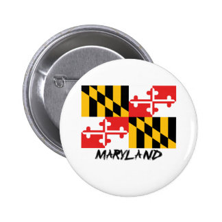 Maryland Flag Pinback Buttons