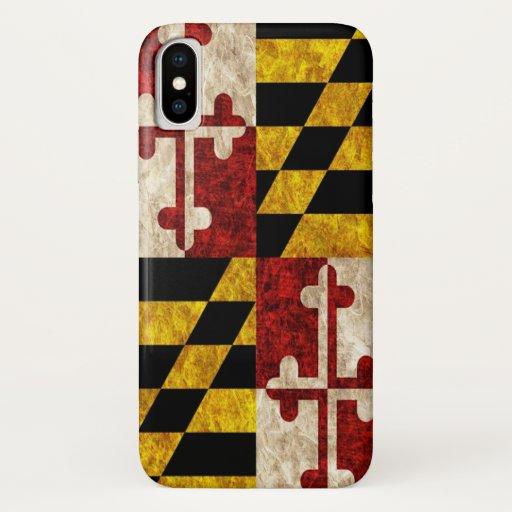 Maryland Flag iPhone X Case