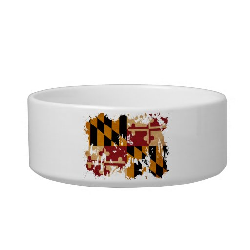 Maryland Flag Cat Water Bowls