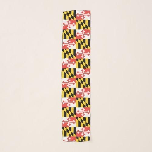 Maryland Flag Chiffon Scarf
