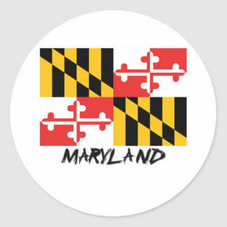 Maryland Flag Classic Round Sticker