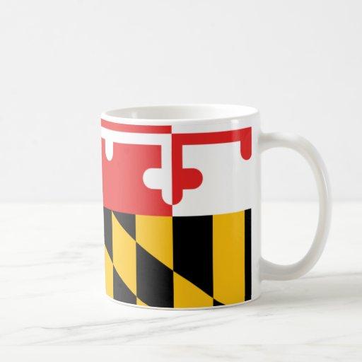 Maryland Flag Classic White Coffee Mug