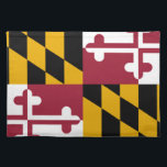 "Maryland Flag Cloth Placemat<br><div class=""desc"">Maryland&#160;is a&#160;U.S. state&#160;located in the&#160;Mid-Atlantic region&#160;of the&#160;United States, bordering&#160;Virginia, &#160;West Virginia, and&#160;Washington, D.C.&#160;to its south and west;&#160;Pennsylvania&#160;to its north; and&#160;Delaware&#160;to its east. Maryland was the seventh state to ratify the&#160;United States Constitution, and has three occasionally used nicknames: the&#160;Old Line State, the&#160;Free State, and the&#160;Chesapeake Bay&#160;State. Maryland is&#160;one of the smallest...</div>"