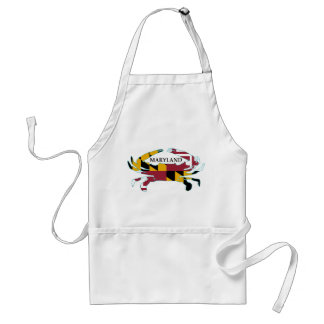 Maryland Flag Crab Apron