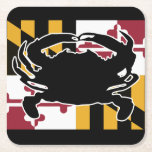 """Maryland Flag/Crab coaster<br><div class=""""desc"""">Show off your Maryland pride and favorite color with this design!</div>"""