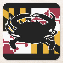 Maryland Flag/Crab coaster