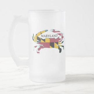 Maryland Flag Crab Frosted Mug