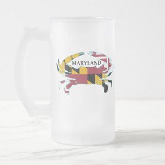 Maryland Flag Crab Frosted Mug