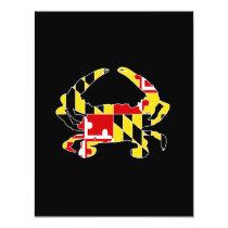 Maryland Flag Crab Invitation/Stationary Invitation