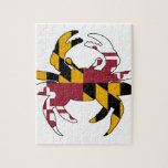 """Maryland Flag Crab Jigsaw Puzzle<br><div class=""""desc"""">Feeling crabby? Showcase your Maryland pride.</div>"""