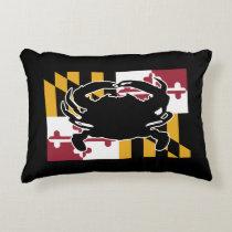 Maryland Flag/Crab pillow