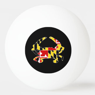 Maryland Flag Crab Ping Pong Ball