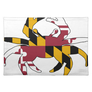 Maryland Flag Crab Placemat at Zazzle