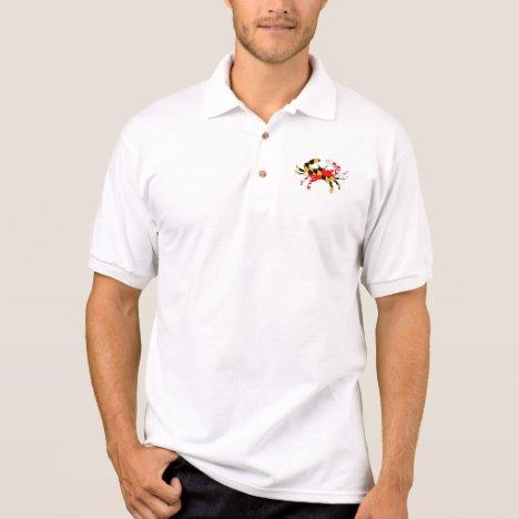 Maryland Flag Crab Polo Shirt