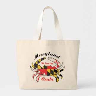 Maryland flag crab steamed crabs beach tote bag