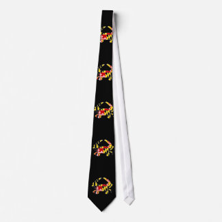 Maryland Flag Crab Tie