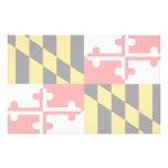 Maryland Flag Customized Stationery