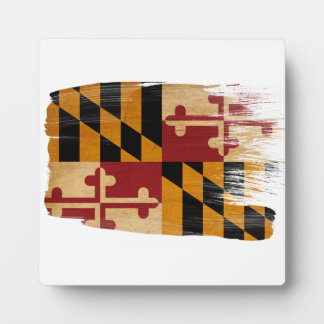 Maryland Flag Display Plaques