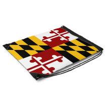 Maryland flag drawstring bag