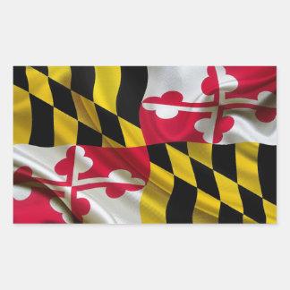 Maryland Flag Fabric Rectangular Sticker
