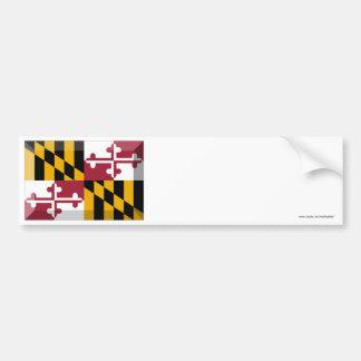 Maryland Flag Gem Car Bumper Sticker