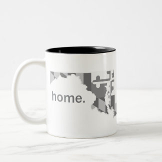 Maryland Flag greyscale home mug