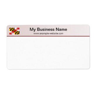 Maryland Flag Header Shipping Label