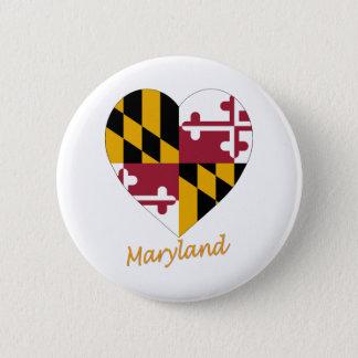 Maryland Flag Heart Button