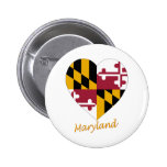 Maryland Flag Heart Pin