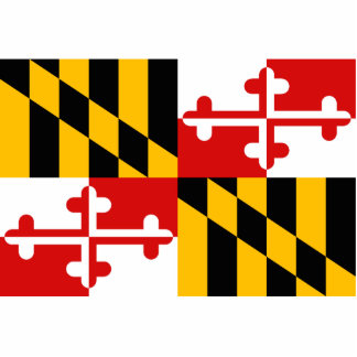 Maryland Flag Keychain Cut Out