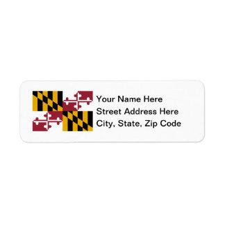 Maryland Flag Labels