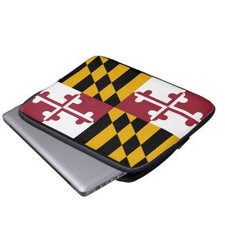 Maryland Flag Laptop Sleeves