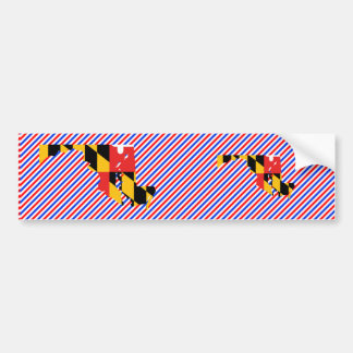 Maryland Flag Map Bumper Sticker