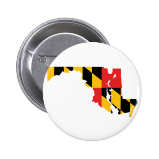 Maryland Flag Map Pinback Buttons