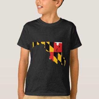 Maryland Flag Map T-Shirt