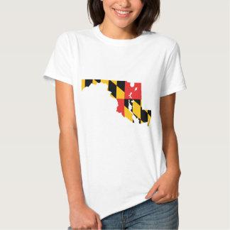 Maryland Flag Map T Shirt
