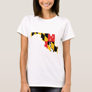 Maryland Flag Map T-Shirt