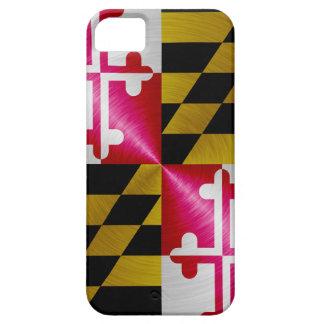Maryland Flag; metal-look iPhone 5 Case