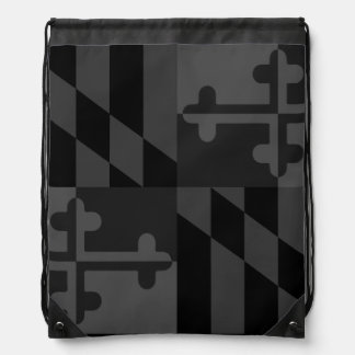 Maryland Flag Monochromatic bag - black