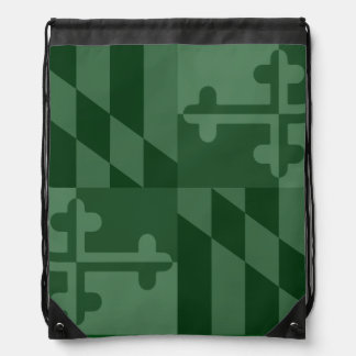 Maryland Flag Monochromatic bag - forest green