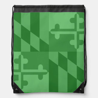 Maryland Flag Monochromatic bag - green