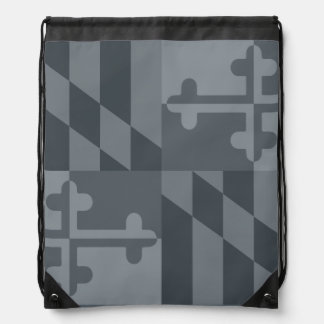 Maryland Flag Monochromatic bag - grey