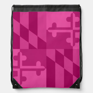 Maryland Flag Monochromatic bag - hot pink