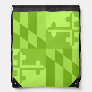 Maryland Flag Monochromatic bag - lime green