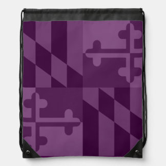 Maryland Flag Monochromatic bag - plum