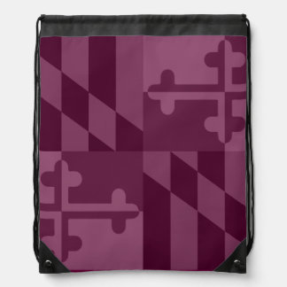 Maryland Flag Monochromatic bag - raspberry