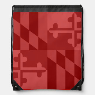 Maryland Flag Monochromatic bag - red