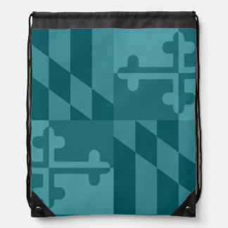 Maryland Flag Monochromatic bag - teal