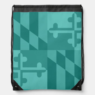 Maryland Flag Monochromatic bag - turquoise