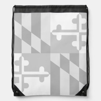Maryland Flag Monochromatic bag - white